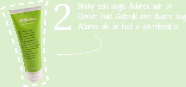 Stap 2 gebruik Aldanex luieruitslagcreme